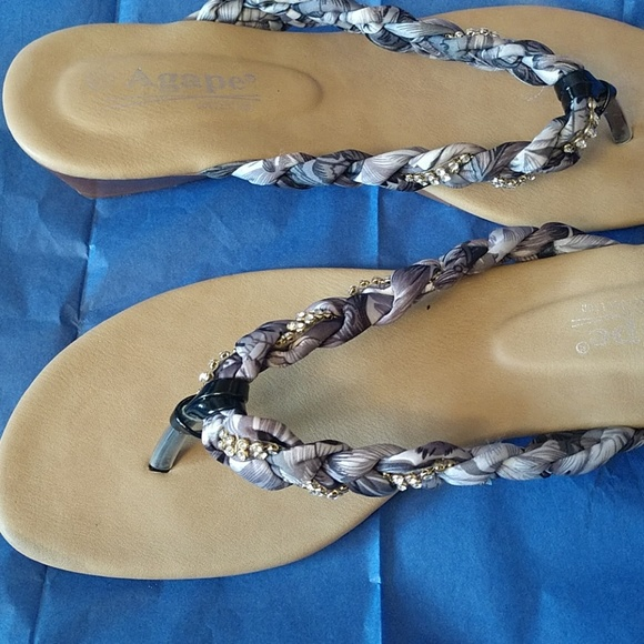 8da576e1a agape Shoes - ADORABLE BRAIDED   CRYSTAL AGAPE SANDALS